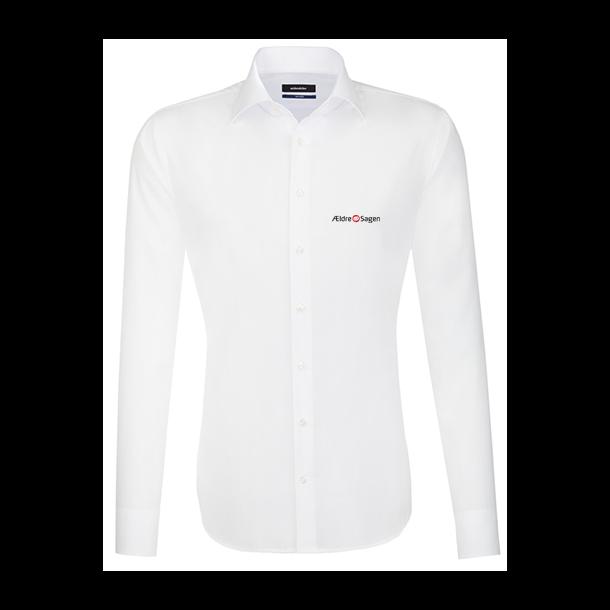 44cf118f Seidensticker herre skjorte med tryk - hvid - Skjorter - Biledgaard ...